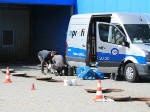 Vorbereitung zur Sanierung des Schachtaufbaus (1)