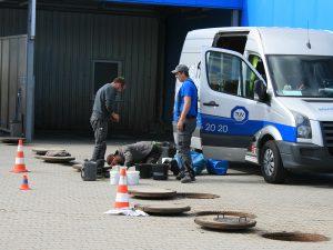 Vorbereitung zur Sanierung des Schachtaufbaus (3)