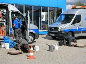Vorbereitung zur Sanierung des Schachtaufbaus (4)